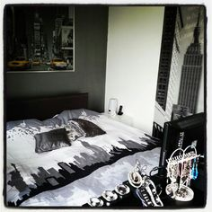 New York theme bedroom #NYC