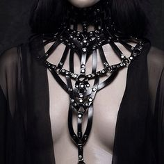 Do you wear harnesses for a fashion statement or for some bondage fun? Grunge Goth, Dark Fashion, Gothic Fashion, Latex Rock, Looks Style, My Style, The Wicked The Divine, Yennefer Of Vengerberg, Bellatrix Lestrange