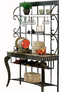 Kitchen Bakers Rack 2 Seater Table Set 59 Best Images Kitchens Houses Wrought Iron Shelves Pantry Storage Organization Decor