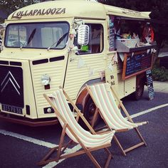 The Vintage Suitcase Citroen Van, Deck Chairs, Butterfly Chair, Outdoor Furniture, Outdoor Decor, Sun Lounger, Vintage, Home Decor, Beach Chairs