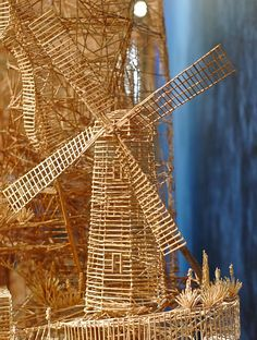 An incredible kinetic sculpture of San Francisco wood toothpicks by Scott Weaver( close-up) Toothpick Sculpture, Popsicle Stick Art, Pick Art, Citations Film, Cure, Japan Architecture, San Francisco Art, Les Themes, Colossal Art