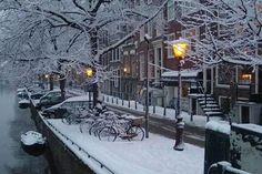 Amsterdam, in Winter Winter Szenen, Winter Magic, Winter Time, Winter Christmas, Places Around The World, Around The Worlds, I Amsterdam, Amsterdam Travel, Snow Pictures