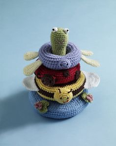 Free crochet pond friends stacking toy  printed