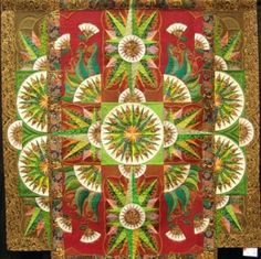 Greensleeves by Marilyn Badger and Claudia Clark Myers. This quilt hangs in the National Quilt Museum in Paducah.