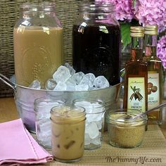 Very Cute Brunch Set up for Iced Coffee