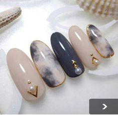 Holiday Nail Designs, Red Nail Designs, Gorgeous Nails, Love Nails, Pearl Nails, Bling Nails, Japanese Nail Art, Japanese Nail Design, Self Nail