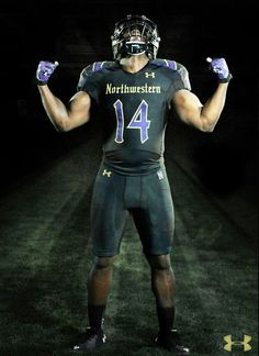 dce3d7cfffd Northwestern University Wildcats Football Gothic uniforms October 2014 by Under  Armour