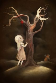 The Girl and the Killing Tree  by ~meluseena
