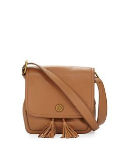 Frances Pebbled Leather Saddle Bag, Bark by Tory Burch at Neiman Marcus.