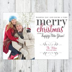 Photo Christmas Card Printable, 7x 5 from Perpetually Daydreaming Designs
