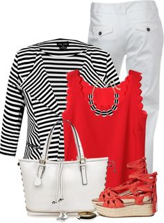 Striped Blazer White pants casual outfit outfitspedia