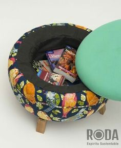 Tire Furniture, Funky Furniture, Furniture Design, Handmade Furniture, Diy Puffs, Tyres Recycle, Soft Furnishings, Bean Bag Chair, Decoration