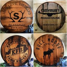 Installing a bar in your home is a great way to make sure that when you have company over everybody has a fun place to spend time together. A dedicated bar spac Whisky Barrel Lid, Bourbon Barrel, Bourbon Whiskey, Whiskey Barrels, Wine Barrel Crafts, Barrel Projects, Woodworking Logo, Woodworking Forum, Woodworking Bench