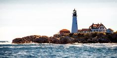 Lighthouse in Portland Maine.  Visit Brantley Highline on iStock to see more beautiful photography.