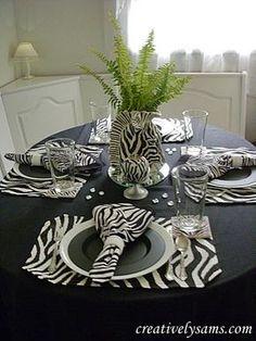Love the zebra table setting | island living: british west indies ...