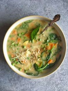 Get a double dose of greens from this light, springtime soup.Get the recipe: Spinach and White Bean ... - Judy Kim