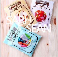Zfd126 envasado de galletas botellas coloridas bolsas de plástico autoadhesivas…