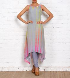 Grey Georgette Kurta Set. Simple but pretty!