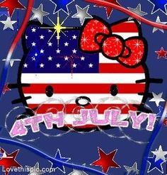 Hello Kitty 4th of July usa america patriotic red white blue hello kitty july 4th