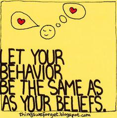 behavior/beliefs