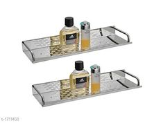 Checkout this latest Bath Shelves_0-500 Product Name: *Stainless Steel Bathroom Accessory Set* Material: Stainless Steel Size: 16 in  Description: It Has 2 Pieces Of  mirror shelves Country of Origin: India Easy Returns Available In Case Of Any Issue   Catalog Rating: ★4.3 (473)  Catalog Name: Amazing Bathroom Accessory Set Vol 1 CatalogID_223765 C132-SC1589 Code: 593-1711403-399