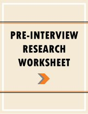 Pre-Interview Research Worksheet
