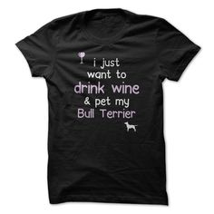 awesome Drink Wine - Bull Terrier