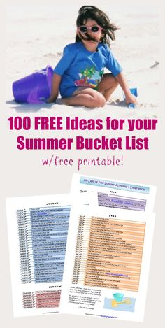 100 free summer activities to do with the kids – Wanderlust Summer Fun List, Free Summer, Summer Kids, Summer Bucket, Happy Summer, Summer Activities For Kids, Activities To Do, Outdoor Activities, Summer Games