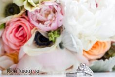 What a beautiful ring and bouquet. www.photosbyb.com