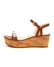 X1FR2 MICHAEL Michael Kors  Persia Wedge Sandal ~ Love that style!!