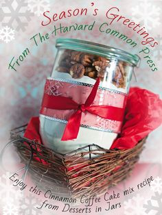 Happy Holiday! Enjoy a delicious Cinnamon Coffee Cake mix!