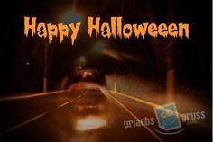 Halloween Geister-Postkarte. Alle Urlaubsgruss.com Halloween Vorlagen findet Ihr in unserer Vorlagen Gallerie auf der Urlaubsgruss.com Webseite und den Urlaubsgruss Apps für iPhone und Android