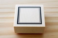 Rubber stamp  Frame of the square  Atype by karaku on Etsy, ¥650