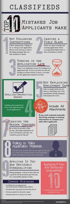 Top 10 Mistakes Job Applicants Make