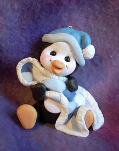 *POLYMER CLAY ~ penguin personalized ake topper