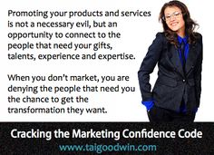 Why marketing is not a necessary evil... www.taigoodwin.com