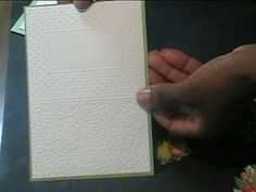 Cuttlebug Folder Double Embossing Card- using red rubber gasket material available at Lowe's in the plumbing department---- fabulous look!