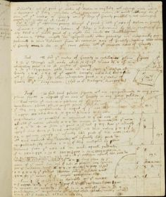 Isaac Newton's handwritten in Cambridge University Library