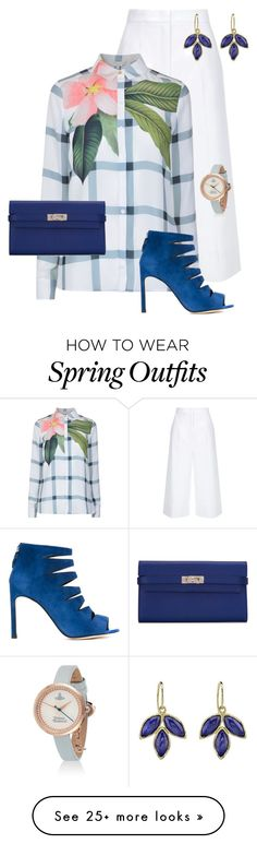 """""""SPRING IS IN THE AIR"""" by mcodyfashionanddesign on Polyvore featuring ESCADA, Ted Baker, Stuart Weitzman, Hermès, Spring and contestentry"""