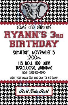 University of Alabama birthday tailgating No 1 by lovebandpdesigns, $10.00