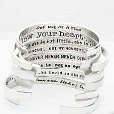 Buy I Am Enough Cuff, Stamped Inspiration Cuff by Pure Impressions on OpenSky
