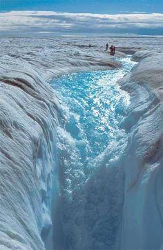The ice stream Jakobshavn Glacier in Greenland.