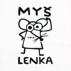 Dámská mikina vyštíhlená s potiskem s potiskem 1038 MYŠ LENKA WHITE | UAX.cz