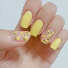 yellow nail design will be among the modest looks of nail designs. What makes the yellow nail art designs interesting is due to the many fun designs that you're able to create with them. The plan of your nails is dependent on you. Spring Nail Art, Spring Nails, Summer Nails, Cute Acrylic Nails, Cute Nails, My Nails, Glitter Nails, Pastel Nails, Glitter Tattoos