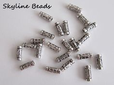 Tube Shape Metal Beads  Tibetan Style Antique by SkylineBeads, $2.75