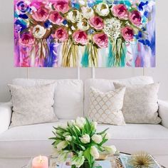 Indigo spring #artist #amandabrooksart #artbybrooks #shopviathewebsite #buynowpaylater #afterpayit #makeityours #floral #originalart #amandabrooksart