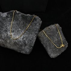 22kt Solid Gold Chain Necklace For men women Anniversary   Etsy Thin Gold Chain, Gold Chains, Wedding Anniversary Gifts, Wedding Gifts, Tribal Looks, Festival Wear, Men Necklace, Solid Gold, 18th