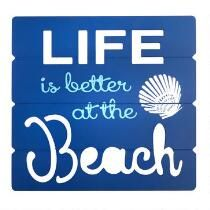 """15""""x16"""" """"Life is Better at the Beach"""" Cutout Wall Decor"""