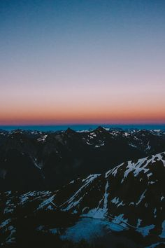 summer sunsets in the Cascades