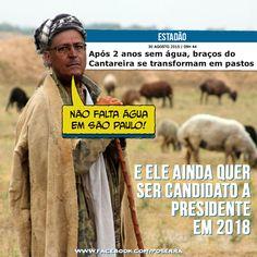 Desgoverno PSDB: Após 2 anos sem água, braços do Cantareira se transformam em pastos. dica: @Porra_Serra_